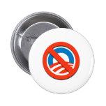 """NO """"O""""/ningún Obama Pin"""