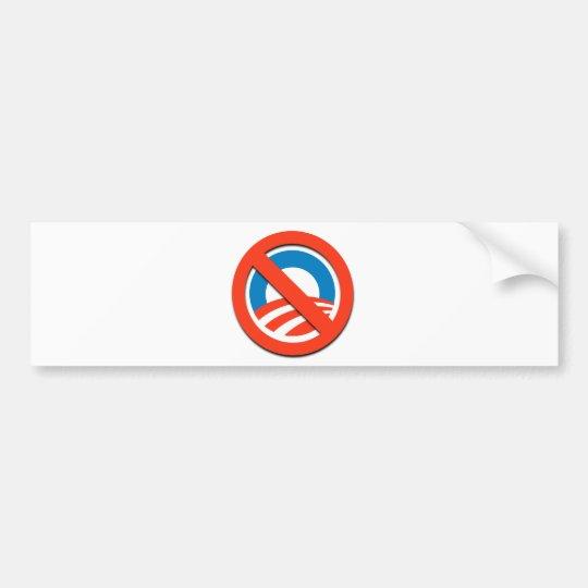"""NO """"O"""" / No Obama Bumper Sticker"""