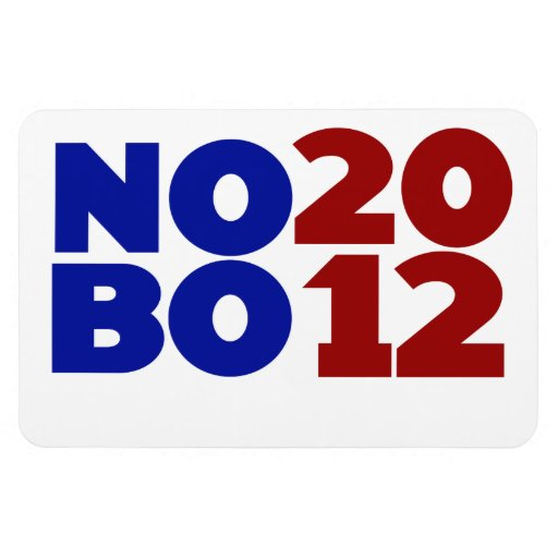 No Obama 2012 Rectangular Photo Magnet