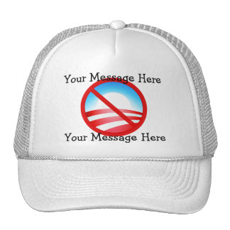 No Obama 2012 - Your Custom Text Mesh Hat