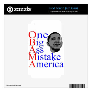 NO Obama Anti Obama Political Election Gifts iPod Touch 4G Decal