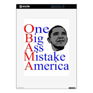 NO Obama Anti Obama Political Election Gifts Decals For iPad