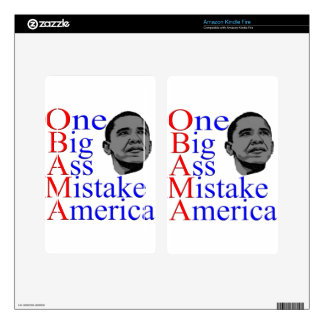 NO Obama Anti Obama Political Election Gifts Skin For Kindle Fire