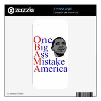 NO Obama Anti Obama Political Election Gifts Skins For The iPhone 4