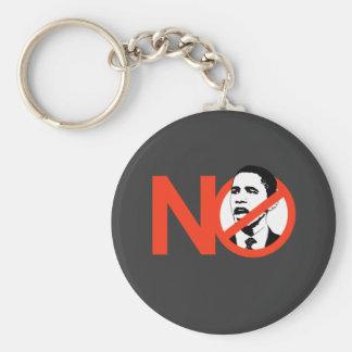 No Obama / Anti-Obama T-shirts Keychain