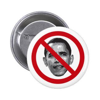 No Obama Pinback Buttons
