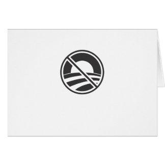 No Obama Greeting Card