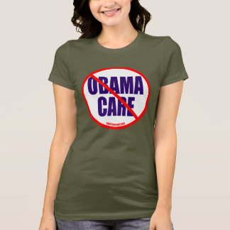 No Obama Care Ladies Petite T-shirt