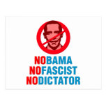 NO OBAMA NO FASCIST NO DICTATOR (v133x) Postcard