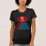 NO OBAMA NO FASCIST NO DICTATOR (v133x) Tee Shirt