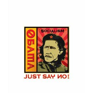 No Obama - no socialism shirt