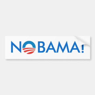 No Obama - NOBAMA! Bumper Sticker