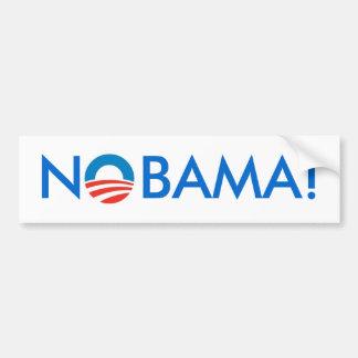 No Obama - NOBAMA! Bumper Sticker