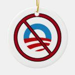 No Obama Ornament