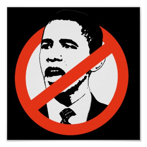 No Obama Poster / Customize your text