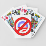 No Obama rather than Yes Romney Bicycle Poker Cards