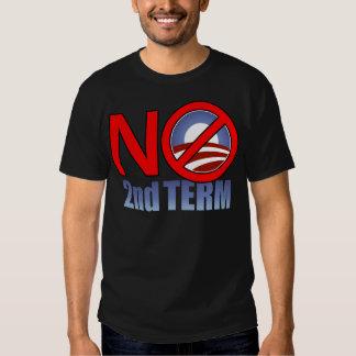 NO Obama Second Term T Shirt
