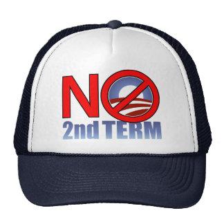 NO Obama Second Term Trucker Hat