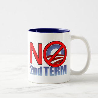 NO Obama Second Term Two-Tone Coffee Mug