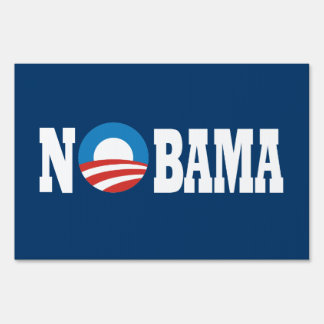 No obama lawn sign