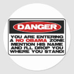 No Obama Zone Sticker