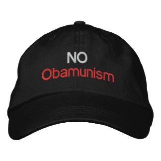 NO Obamunism 1.0 Embroidered Baseball Cap