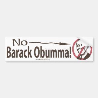 No Obumma! Slash Bumper Sticker