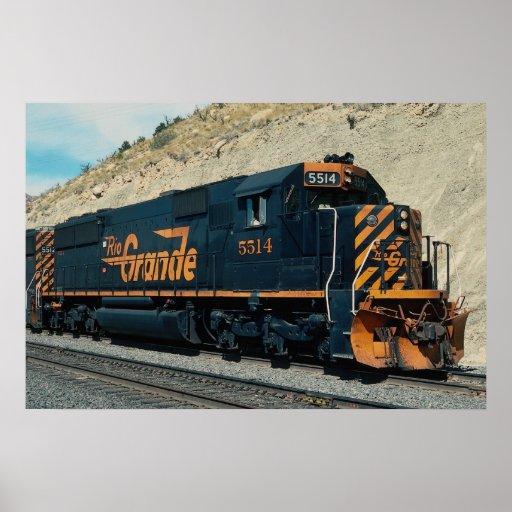 No. occidental 5514 de Denver y del Rio Grande EMD Póster