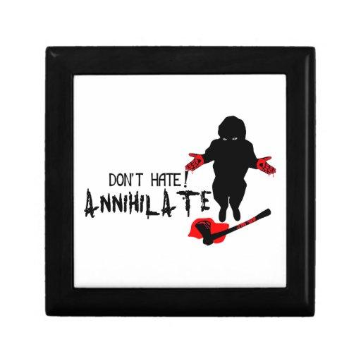 ¡No odie! Aniquile Joyero Cuadrado Pequeño
