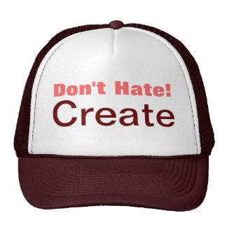 ¡No odie! Cree el gorra del camionero