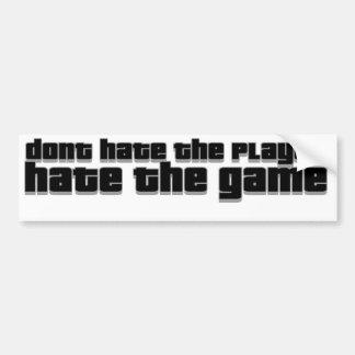 no odie el jugador, odian el juego pegatina para auto