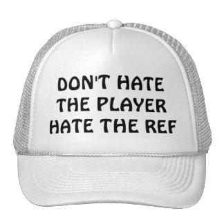 No odie el jugador/referencia gorros bordados