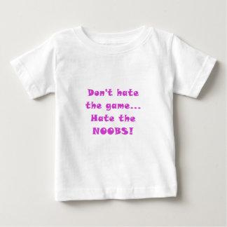 No odie el odio del juego el Noobs Playera De Bebé