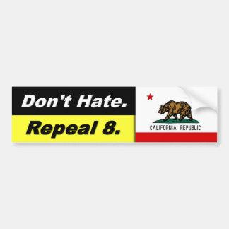 No odie la bandera de la derogación 8 W. Cali - pe Pegatina De Parachoque