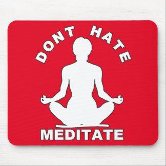 No odie meditate blanco alfombrilla de raton