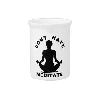 No odie Meditate Jarra Para Bebida