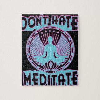 ¡No odie no meditate Rompecabezas