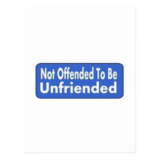 No ofendido para ser sin amigos postal