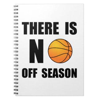 No Off Season Basketball Spiral Notebook