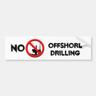 No Offshore Drilling Bumper Sticker