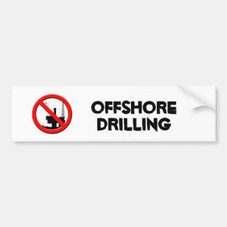 No Offshore Drilling Bumper Sticker