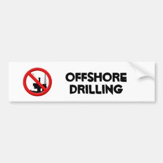 No Offshore Drilling Bumper Sticker Car Bumper Sticker