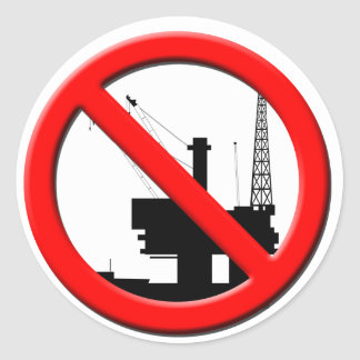 No Offshore Drilling Sticker
