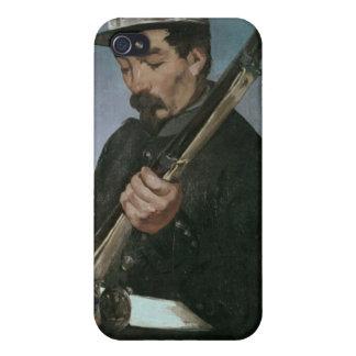 No oficial de Commissoned que sostiene su rifle iPhone 4/4S Fundas