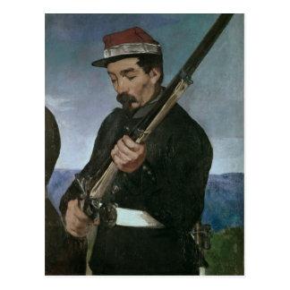 No oficial de Commissoned que sostiene su rifle Tarjetas Postales