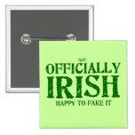 (no) oficialmente irlandés pin