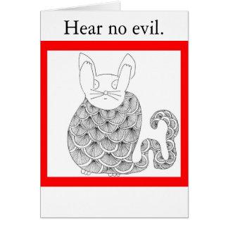 No oiga ningún mal tarjeta de felicitación