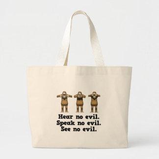 No oiga ningún mono del mal bolsa