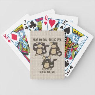 No oiga ningún mono del mal - nuevo barajas de cartas