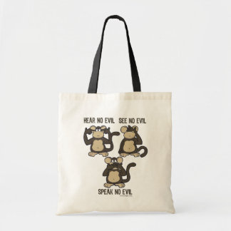No oiga ningún mono del mal - nuevo bolsa de mano